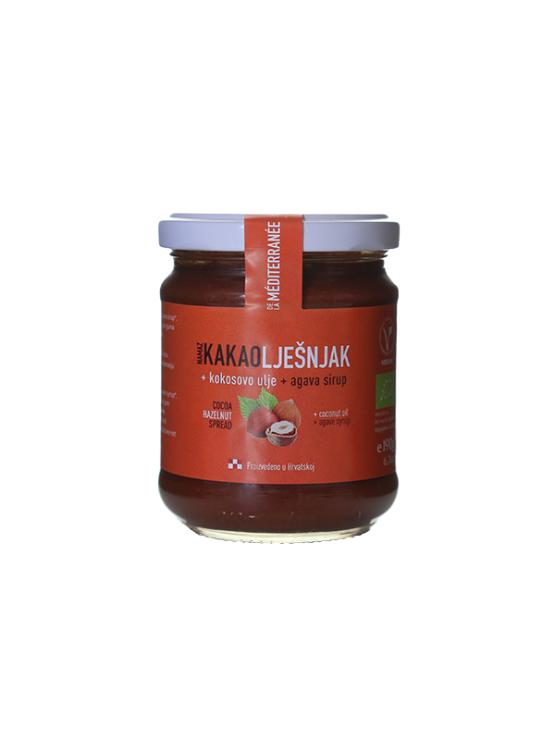 Vegetariana organic hazelnut spread in a glass jar of 190g