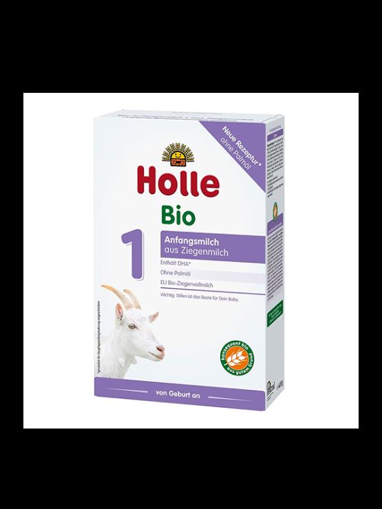 Holle goat's milk infant follow on formula 1 in cardboard rectangular packaging of 400g