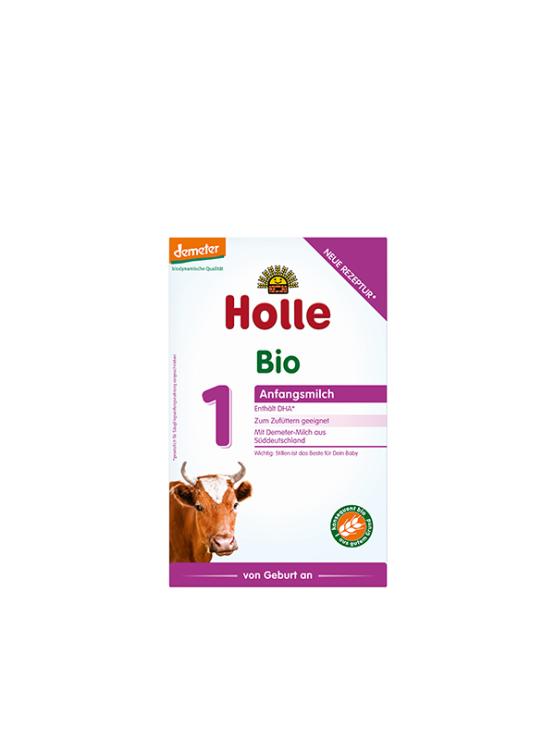 Holle infant formula 1 in cardboard rectangular box