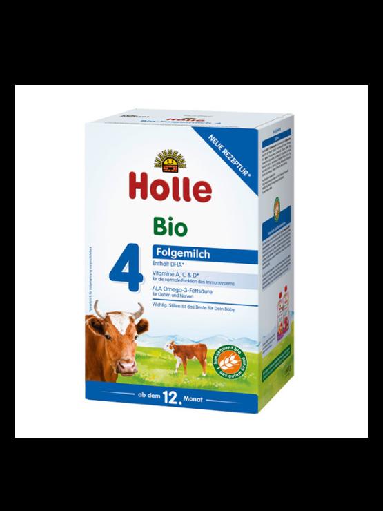 Holle infant follow on formula 4 in cardboard rectangular box
