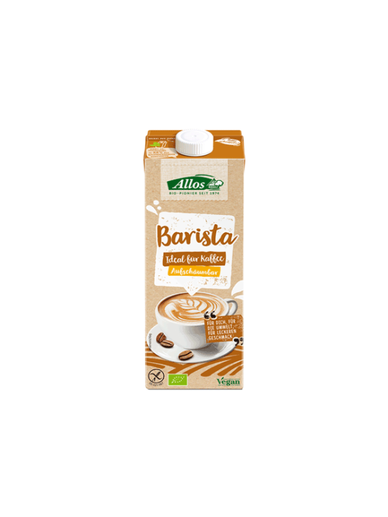 Allos organic barista soy drink in a packaging of 1000ml