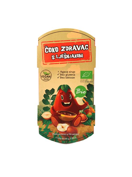 Vegetariana organic healthy choc spread with hazelnut in a 100g packaging