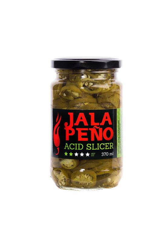 Volim ljuto pickled jalapeno peppers - acid slicer in a 370ml jar