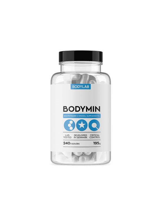 Bodylab bodymin vitamins and minerals in a packaging containing 240 tablets