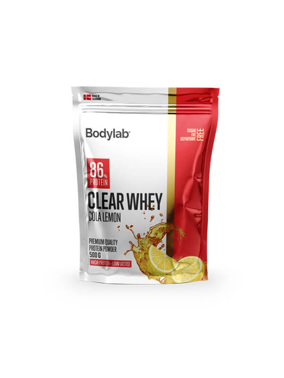 Bodylab clear whey cola lemon in a packaging of 500g