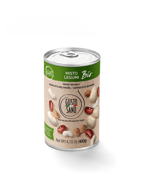 Gusto Sano organic canned mixed beans 400g