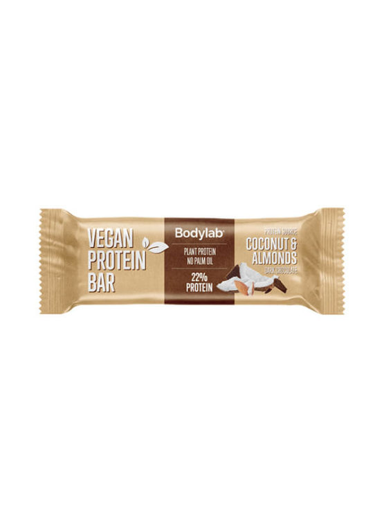 Bodylab vegan coconut and almond protein bar in a packaging of 40g