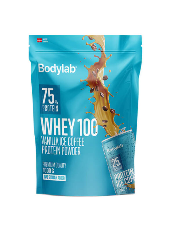 Bodylab whey 100 vanilla ice coffee in a resealable packaging of 1000g