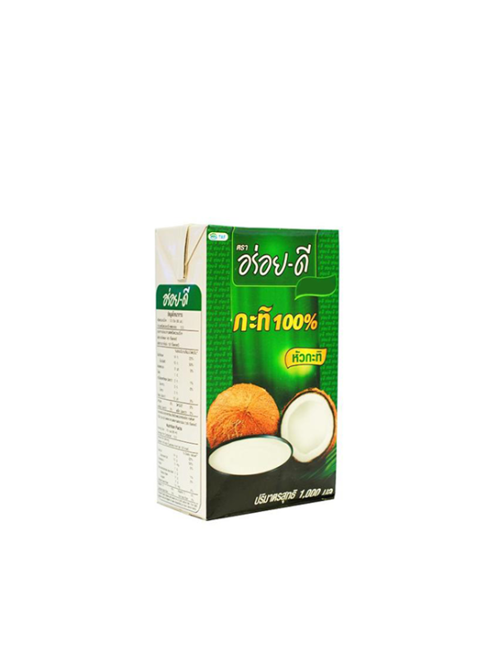 Authentic Thai coconut milk in a cardboard packaging of 1000ml