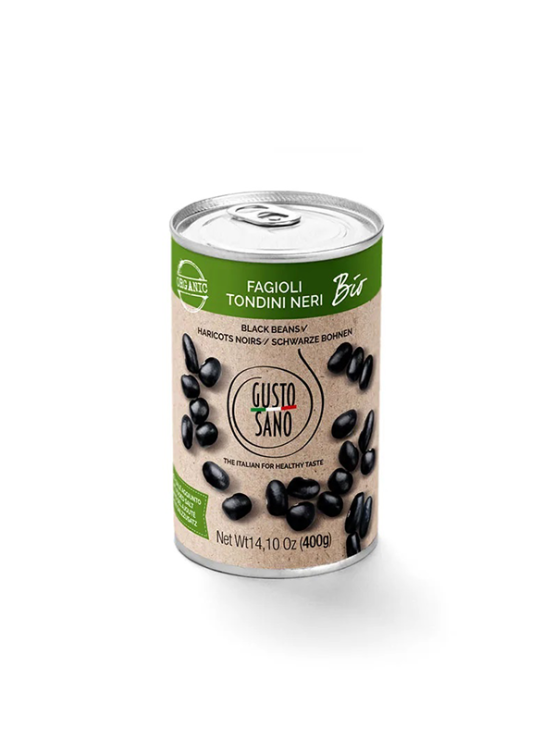 Gusto Sano organic canned black beans 400g