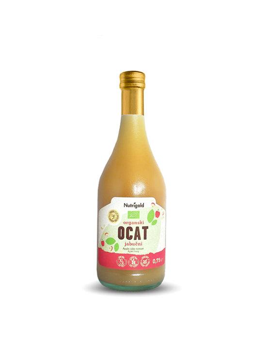 Nutrigold apple cider vinegar in a clear bottle of 0,75l