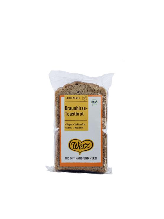 Werz brown millet toast bread in a packaging of 250g