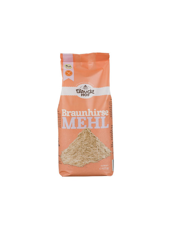 BauckHof organic brown millet gluten free flour in a packaging of 425g