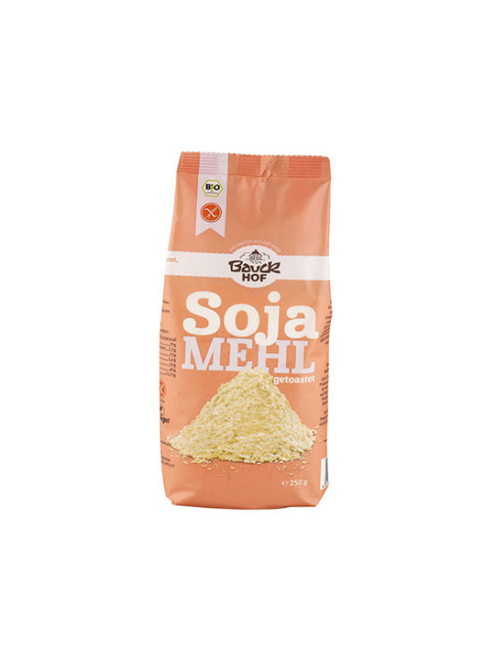 BauckHof organically cultivated gluten free soy flour in a packaging of 250g