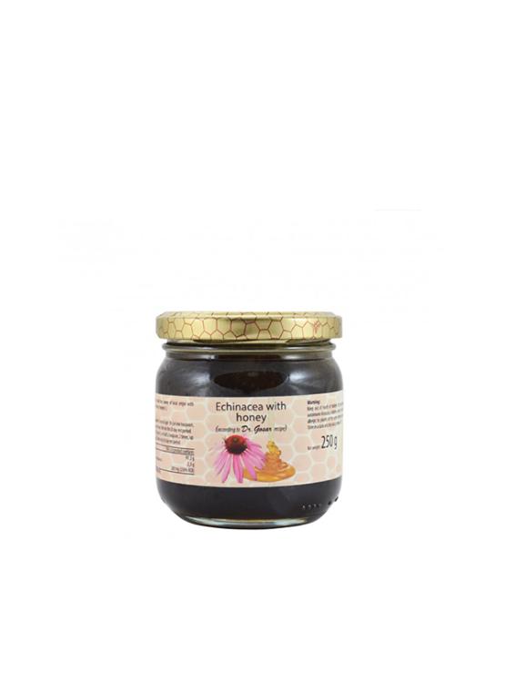 Echinacea honey in a glass jar of 250g