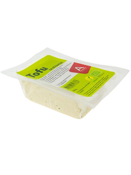 Annapurna organic sesame tofu in vacuum sealed packaging of 200g