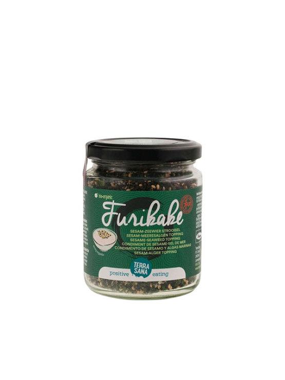 Terrasana organic Furikake sesame and seaweed mix in a glass jar of 100g