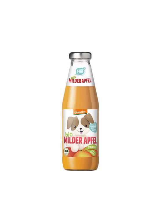 Fur organic apple juice with added vitamin C in 500ml glass bottle