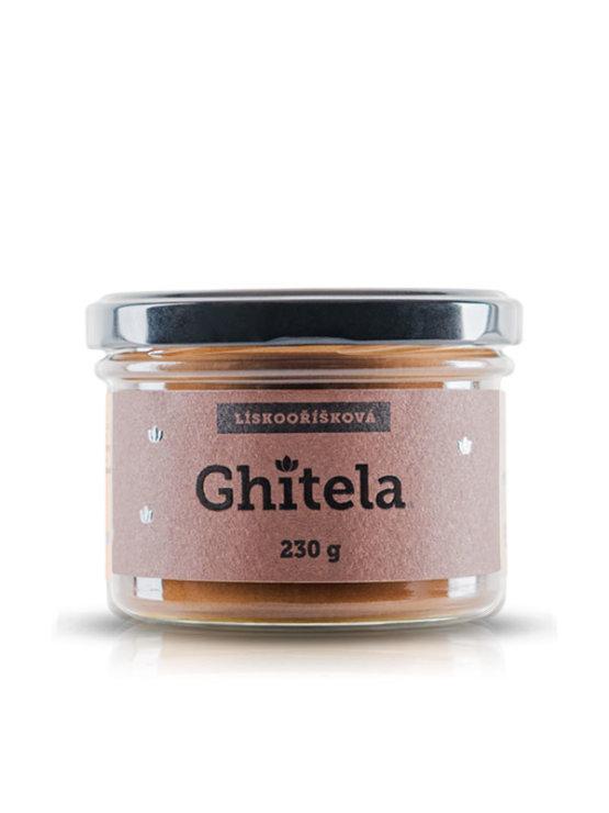 Ghitela ghee hazelnut spread in a glass jar of 230g