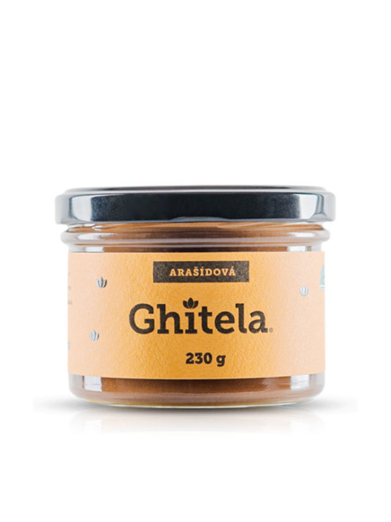 Ghitela spread with gee butter and peanuts in a glass jar of 230g