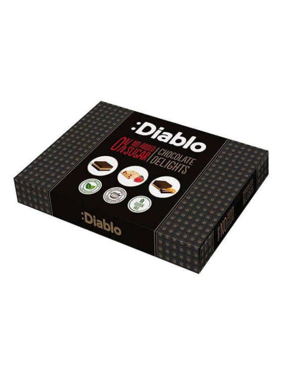 Diablo chocolate pralines with no added sugar in a box of 115g
