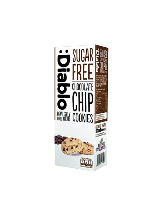 Sugar free chocolate chip cookies from Diablo in a cardboard packaging of 130g
