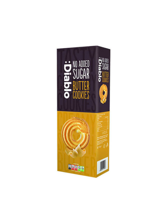 Diablo no added sugar butter cookies in a paper box 135g