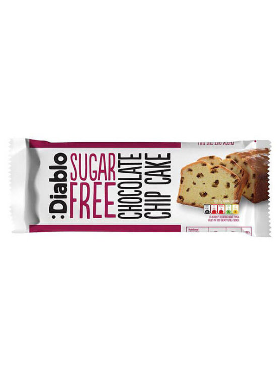 Diablo sugar free chocolate chip cake in a 200g packaging
