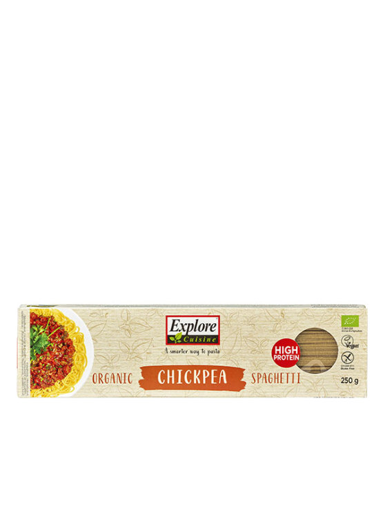 Organic Explore Cuisine chickpea spaaghetti pasta in a 250g packaging