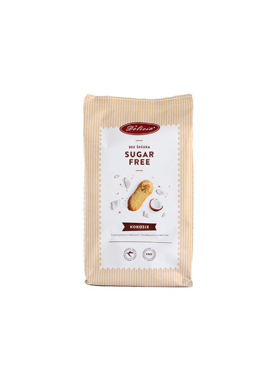 Delicia Kokosix sugar free cookies with coconut in a 200g packaging