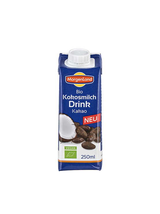 Organic Morgenland coconut drink with cocoa in a beverage carton of 1000ml