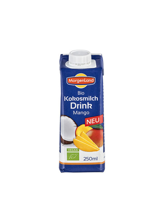 Organic Morgenland coconut drink with mango in a beverage carton of 1000ml