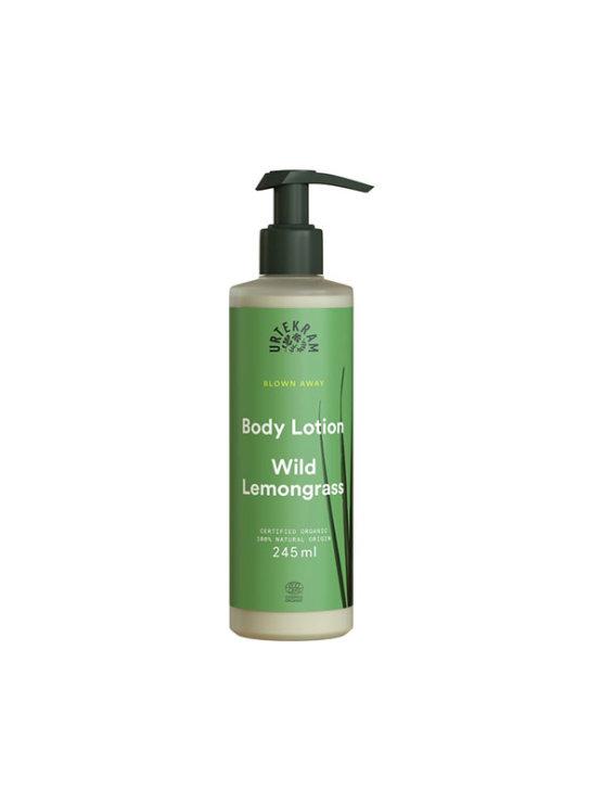 Urtemkram wild lemongrass body lotion in a green bottle of 245ml