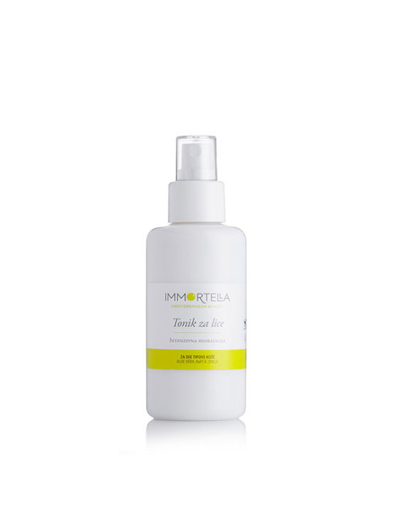 Immortella face tonic in a spraying bottle of 100ml