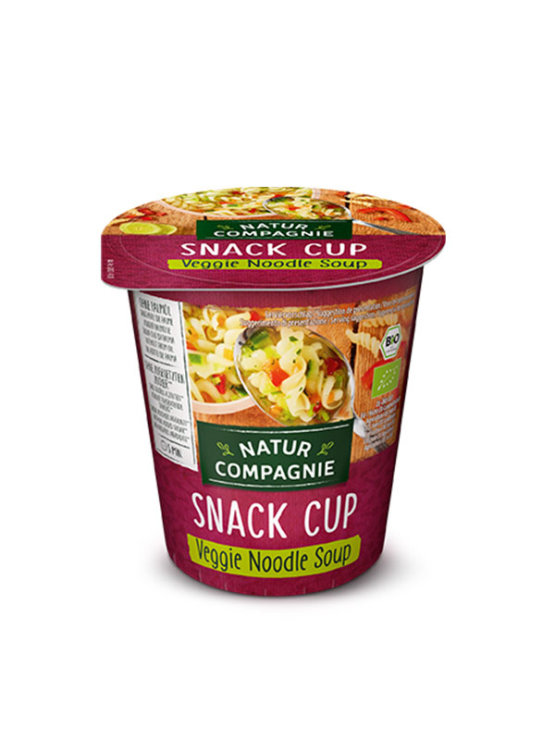 Organic Natur Compagnie veggie noodle snack cup in a packaging of 50g