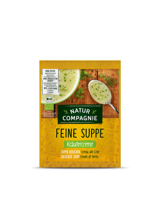 Natur Compagnie organic cream of herbs soup in a packaging of 40g