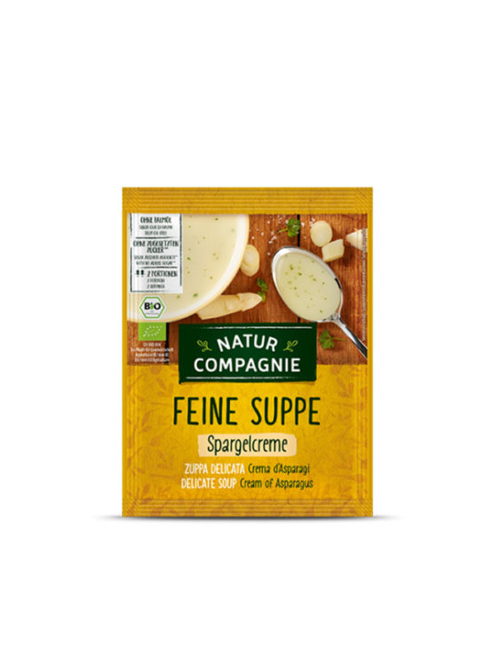 Organic Natur Compagnie cream of asparagus cream in a bag packaging of 40g