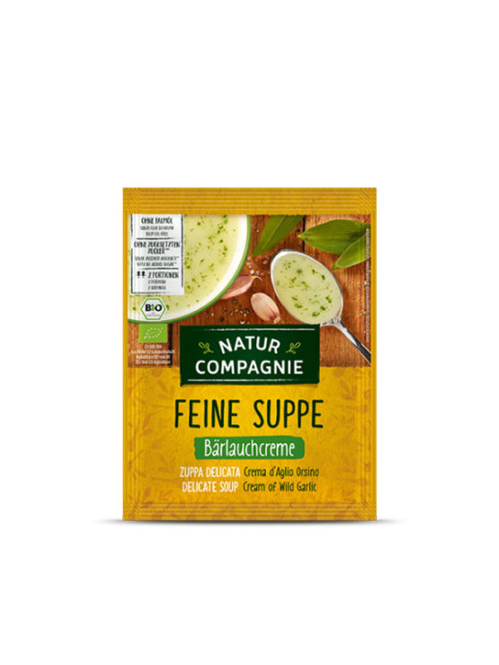 Natur Compagnie organic cream of wild garlic soup in a packaging of 40g