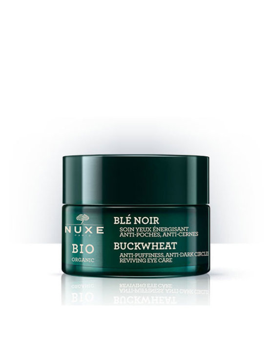 Nuxe Bio reviving eye care cream in a glass packaging of 15ml