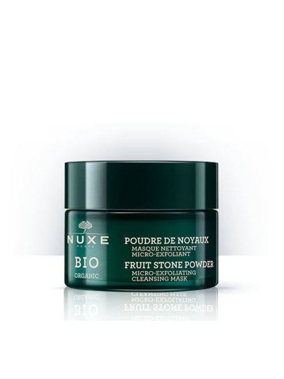 Nuxe Bio micro exfoliating cleansing mask in a 50ml glass