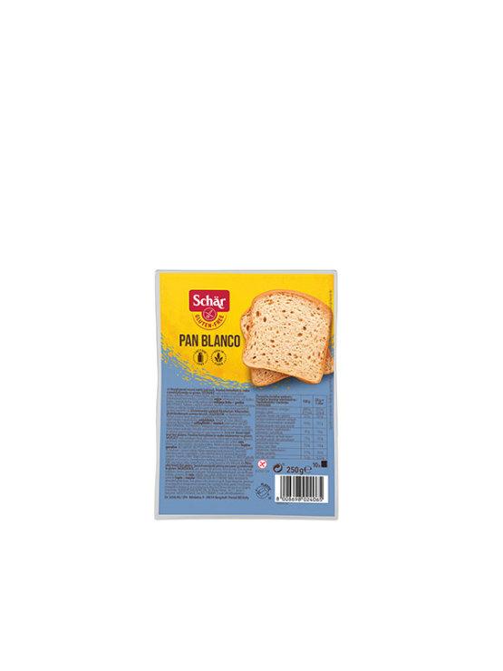 Schar gluten free white loaf bread in a packaging of 250g