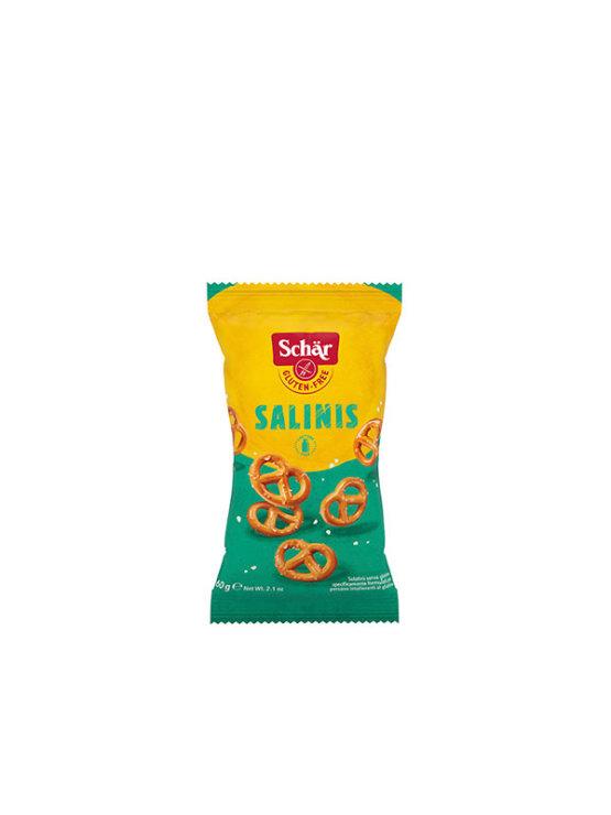 Schar gluten free salted pretzels in a 60g packaging