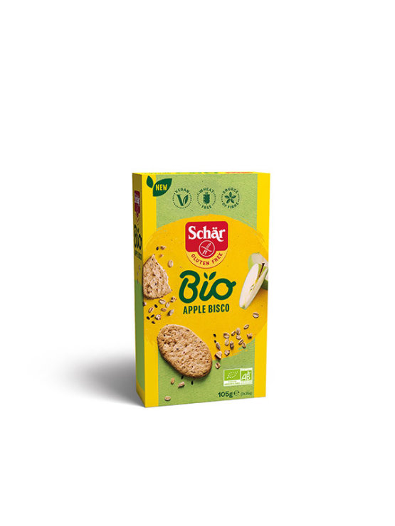 Schar gluten free apple biscuits in a packaging of 105g
