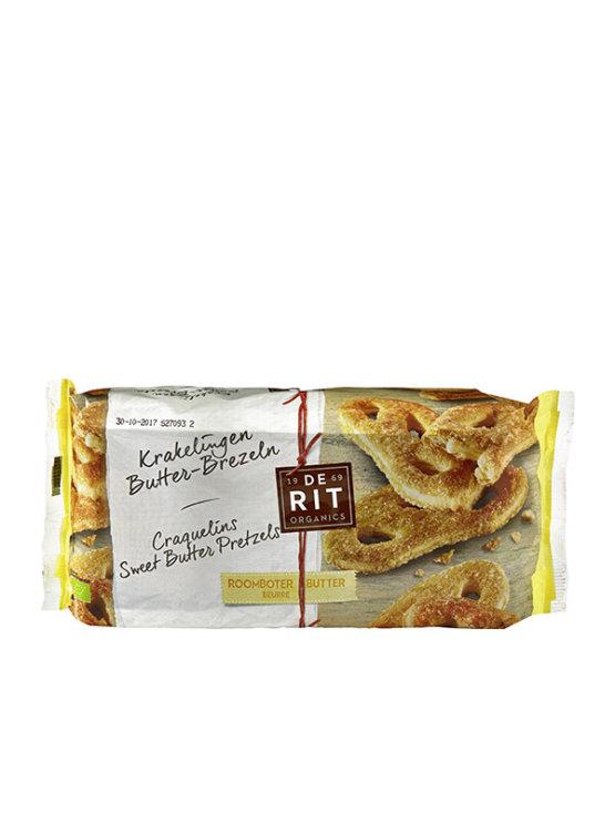 De Rit organic sweet butter pretzels in a packaging of 150g