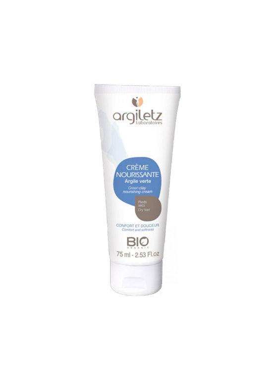 Argiletz organic nourishing cream for dry feet in a 75ml tube