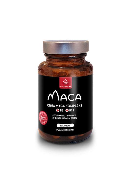 Bionadina black maca complex in a packgaing containing 60 capsules