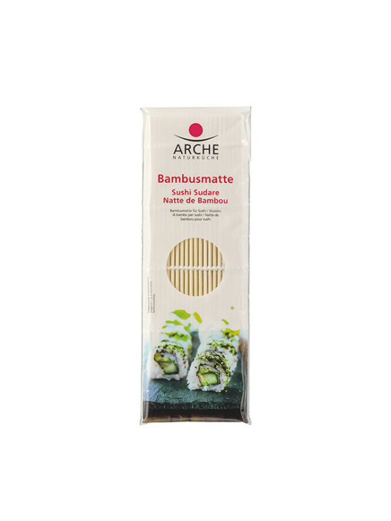 Arche bamboo sushi mat in a plastic packaging