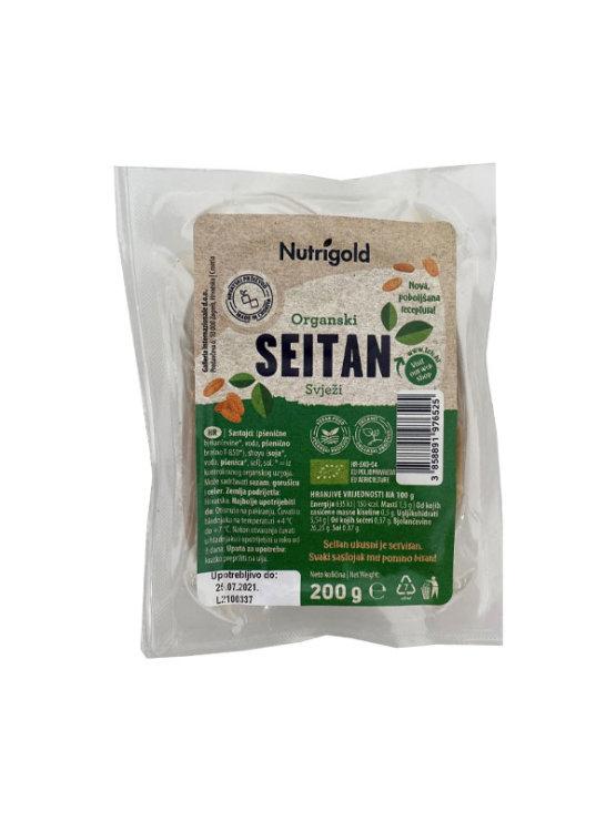 Nutrigold organic fresh seitan in a vacuumed packaging of 200g  pa