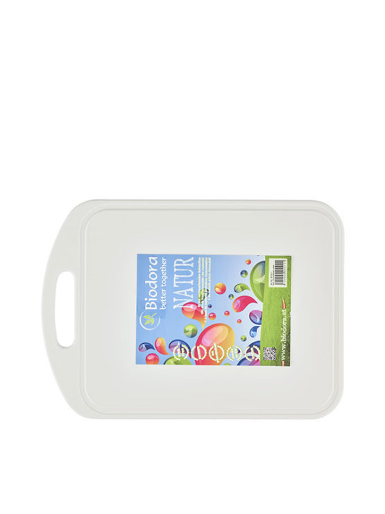 Biodora white chopping board from renewable resources, without plasticizers