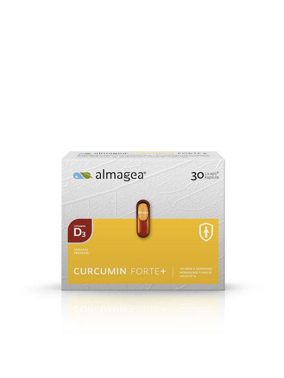 Almagea Curcumin Forte+ in a packaging containing 30 capsules